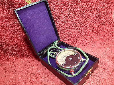 early 1900 ANTIQUE RADIO VOLTMETER  D.R.P.a. GERMANY with ORIGINAL BOX