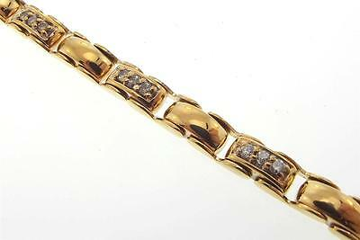 14Kt Yellow Gold .72 Cttw Round Diamond Tennis Bracelet 7.50 Inch (2B 301-10093)