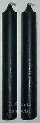 2 x BLACK - SPELL WORK CANDLE  - 10cm Wicca Pagan Witch Goth Altar Ritual Sabbat