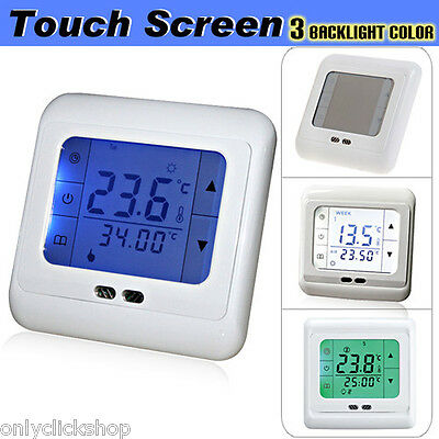 Programmable LCD Touch Screen Thermostat Room Underfloor Temperature Controller