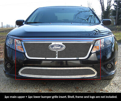 For 2010-2012 Ford Fusion Mesh Premium Grille Combo Insert