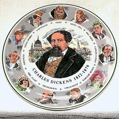 Royal Doulton LARGE Seriesware Portrait PLATE TC 1042 CHARLES DICKENS