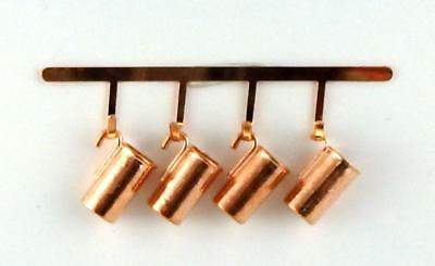 Dolls House Hanging Copper Measuring Jugs Mugs Miniature Kitchen Accessory