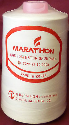 Marathon Embroidery Machine Bobbin Thread 10,000m White 60/2 Brother Machines