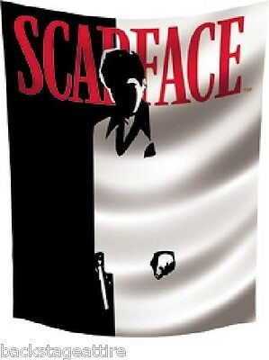 Scarface Al Pacino Silhouette 3' x 4' Cloth Textile Poster Flag Tapestry-New OOP