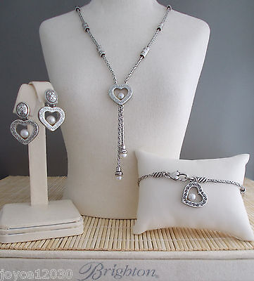 "Brighton ""Sorority Row"" Necklace Bracelet & Earrings - 3 piece set"