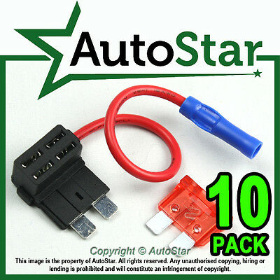 10- Add A Circuit Fuse Splice Piggy Back Blade Fuse Holder ATO ATC 12v 24v Tap