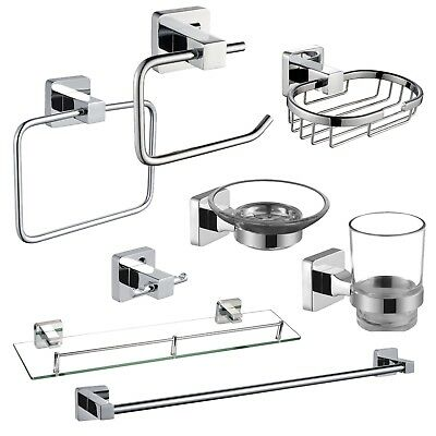 Tranquility | Chrome & Glass Wall Mounted Bathroom Accessories | Showerdrape