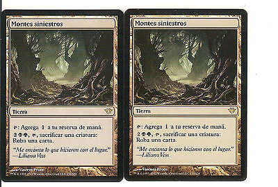 mtg Magic 2x Grim Backwoods ( Montes siniestros ) Spanish NM-