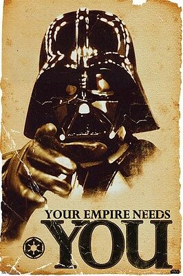 Star Wars Darth Vader Your Empire Needs You Movie Poster Art Print 24x36 inch