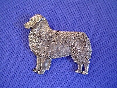 Australian Shepard Pin #42A Pewter Herding Dog Jewelry by Cindy A. Conter AUssie