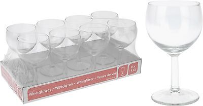 Classic White Wine Drinking Glasses 19CL Set of 8 Wine Glasses