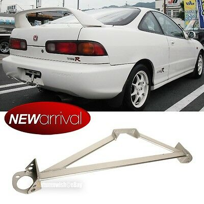 Fit Civic Integra Stainless 3 Point Silver Front Upper Strut Tower Brace Bar