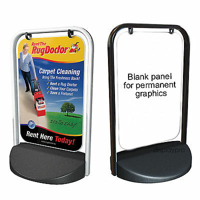 A2 Swinger 2000 Pavement Sign A-Board Display Stand Printed Poster Panel