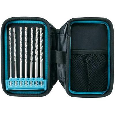 "Makita P-90015 Masonry Drill Bits On 1/4"" Hex 7 Piece In Pouch"