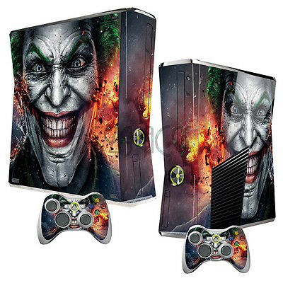 Joker Skins Stickers for Xbox 360 Slim Console + 2 Controllers Dustproof