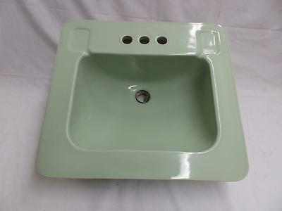 Vintage Bathroom Jadeite Green China Sink Old Porcelain Powder Room 3637-14