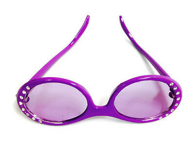 """Purple Sun Glasses with Rhinestones made for 18"""" American Girl Doll Clothes"""