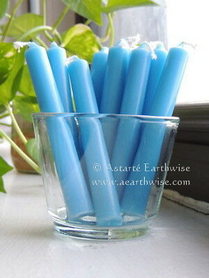 5 x LIGHT BLUE - SPELL WORK CANDLES Wicca Pagan Witch Herb Altar Goth Punk Reiki