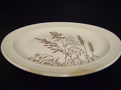 """Oval  Platter J and G Meakin England Windswept Brown Wheat Pattern 11 3/4"""""""