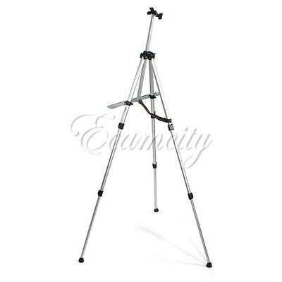 Aluminium Alloy Folding Artist Painting Easel Adjustable Tripod +Carry Bag Wihte
