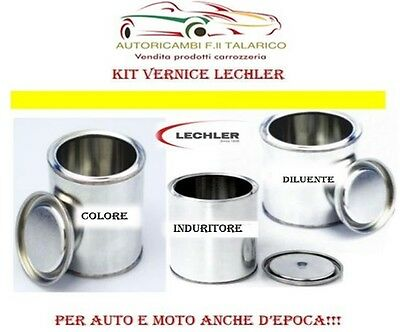 Kit Vernice Lechler 1 Kg - Colore 140 Rosso - 500 Gr Induritore Gr 200 Diluente