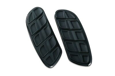 Kuryakyn 4397 Gloss Black Kinetic Inserts for Harley Swept Wing Driver Floorboar