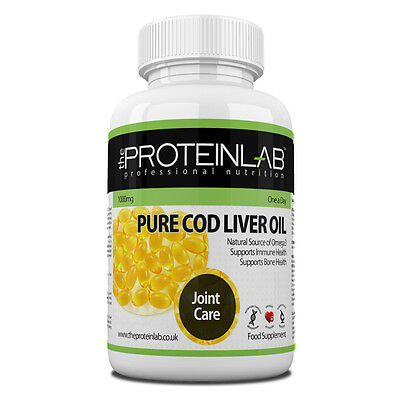 Cod Liver Oil 1000mg High Strength 7 to 360 Softgel Capsules Free P&P Not Tablet