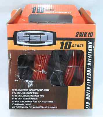 Sound Storm Lab SWK10 Car Audio 10 Gauge Amplifier Installation Amp Kit