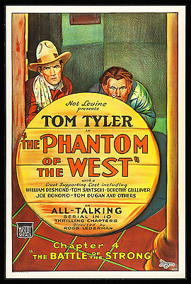PHANTOM OF THE WEST CineMasterpieces TOM TYLER MOVIE POSTER WESTERN COWBOY 1931