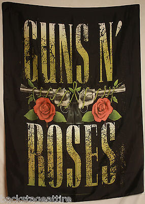 GUNS N and ROSES GNR Big Guns Textile Fabric Cloth Poster Flag Wall Banner New!!