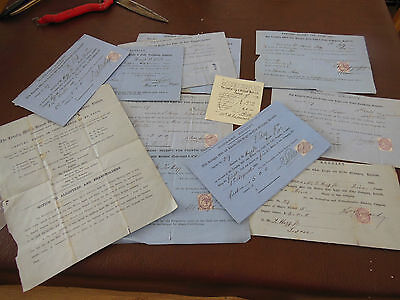 VINTAGE  SHARES/BOND CERTIFICATES/RECEIPTS - 1868-1881