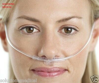 2x NASAL ADULT OXYGEN CANNULA WITH NASAL PRONGS