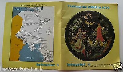 Vintage Travel Booklet For Intourist Visiting The USSr In 1970