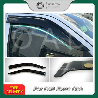 Premium Weathershields Weather Shields Window Visors Navara D40 Extra Cab 2pcs S