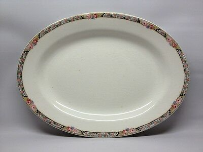 """Vtg/Antique K.T. & K. China Knowles Taylor & Knowles 12.5"""" Oval Serving Platter"""