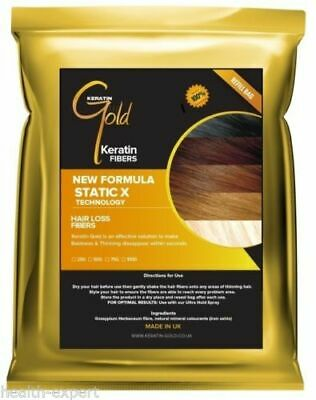Keratin Gold™ Hair Fiber Fibre Refill For Hair Loss Thickener Chemotherapy