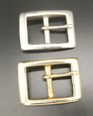"RAISED BACK BAR DOG  BELT BUCKLE LEATHERCRAFT 1/""  -  25 mm BRASS or NICKEL"