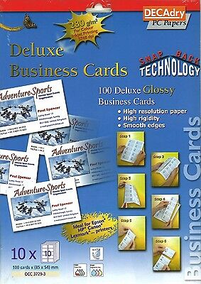 Decadry OCC 3729-3 Deluxe Business Cards Make Your Own Business Cards