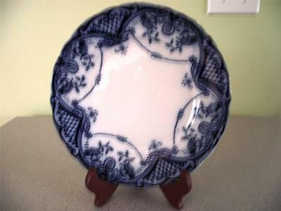F & Sons Flow Blue Bute Pattern Sandwich Plate Burslem