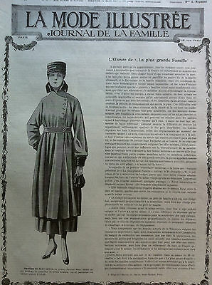 Last one ! ORIGINAL MODE ILLUSTREE March 11, 1917 +clothing PATTERN