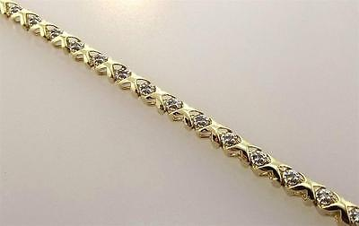 10Kt Yellow Gold .33 Cttw Diamond Tennis Bracelet 7 Inch (16B 301-10072)