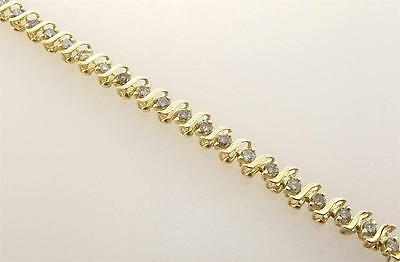 14Kt Yellow Gold 1.0 Cttw Diamond Tennis Bracelet 7.5 Inch (16B 301-10054)