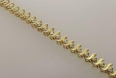 14Kt Yellow Gold 1.0 Cttw Diamond Tennis Bracelet 7 Inch (16B 301-10005)