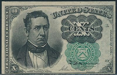 Fr1264 10¢ 5Th Issue Fractional Currency Green Seal Choice Unc Br6078