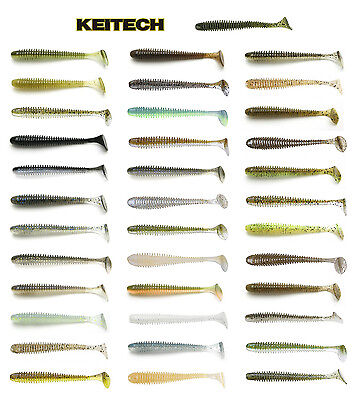 "KEITECH SWING IMPACT SWIMBAIT 3.5"" (8.9 CM) 8 PACK select colors"