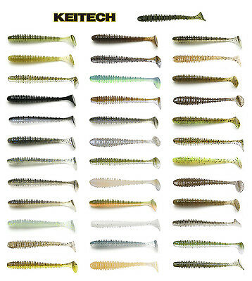 "Keitech Swing Impact Paddle Tail Swimbait 3.5"" (8.9 Cm) 8 Pack Keitech Lures"