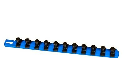 "Ernst 8419 13"" LONG 1/2"" Drive TWIST LOCK Socket Rail Organizer - BLUE"