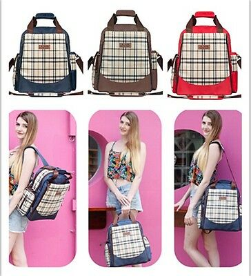 Fashion Multifunction Baby Diaper Nappy Bag Mummy Bag backpacks Blue/Red/Coffee