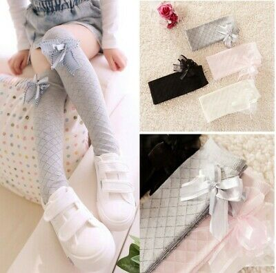 Baby Kids Girls Child Lace Cotton Soft Knee-High Socks Leggings Stockings 1-10Y